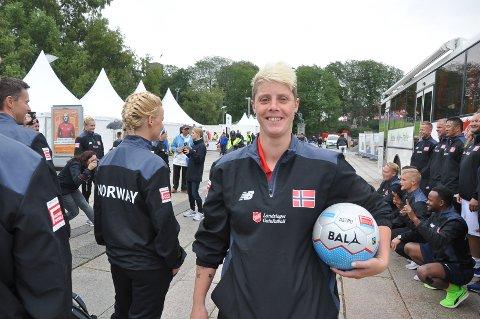 June Eid fra Mysen ble håndplukket til landslaget i gatefotball.