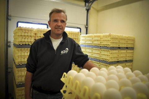 Kjølerom: Lars Holene oppbevarer alle egg i kjølerom eller kjøleskap. Arkivfoto