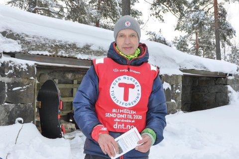 Arne Instebø fra Indre Østfold Turistforening gleder seg nå til å gå tur på Opera-taket.