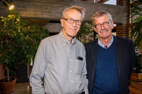 LEDERSKIKKELSER: Arne Dehli (82) (t.v) var Lions-president i 2015-16, mens nåværede president Terje Nilsen (61) er leder for Lions-året 2018-19.