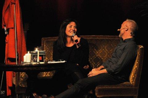 RØRT: Marianne Antonsen fortalte om sin sterke historie i en dialog med NRK-profil Magnus Brenna-Lund på scenen i Festiviteten.