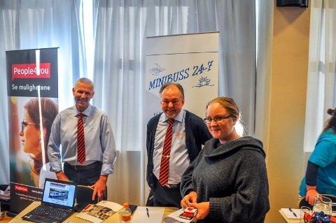 Isabell Buklev (t.h) kan tenke seg å bli kollega med Asle Walter og Bjørn Finstad i Minibuss 24/7.