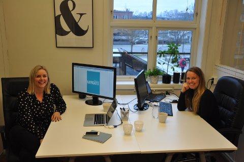 Line Møllhausen (t.v) og Anne Mina Skjønberg har siden oppstarten for seks år siden, drevet mediebyrået Navigatio.