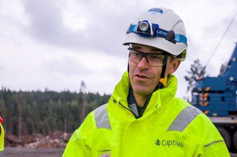 PROSJEKTLEDER: Tormod Nyberg må konstatere at vindparkutbyggingen blir forsinket, noe som også fordyrer prosjektet. ARKIVFOTO