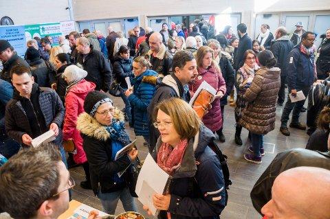 600: Rundt 600 personer var innom jobbmessa i Askim rådhus.