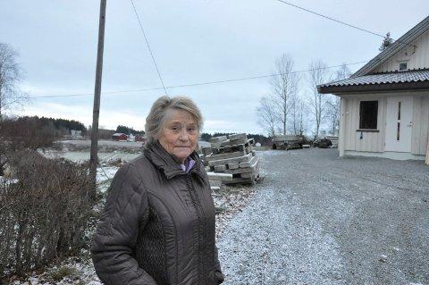 Ann Karin Pettersen. Kun tre tomter igjen av gården Westgård. Kommunen foreslår å bygge vei her.