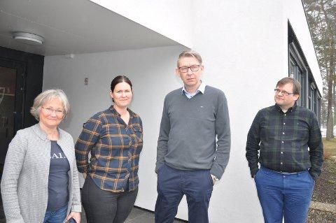 ENGASJERTE:  Endret skoletid i Skipvet engasjerte også politikerne, f.v. Lisbeth Grenager (H), Eirin Solberg (Sp), Jan-Ivar Lorentzen (Ap) og Thomas Graff (KrF).