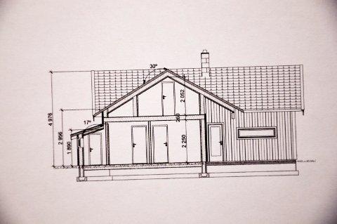 GRØNT LYS: Slik blir utseendet på den nye hytta  på Spjudnes hyttefelt i Øymark. FOTO: Fra sakspapirene