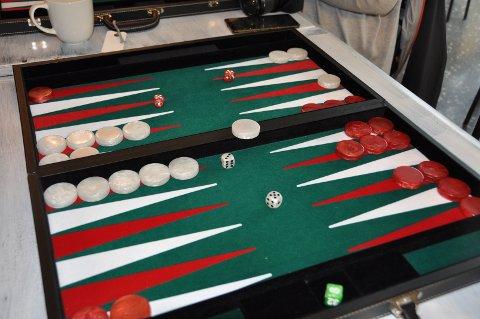BRETTSPILL: Slik ser backgammonspillet ut.
