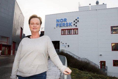 ENESTE KVINNE: Bente Lind er daglig leder i Norfersk AS. Hun er den eneste kvinnen på listen over lederlønn i distriktets største selskaper.