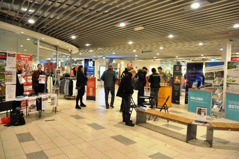 STAND: Reiselivsmessen ble arrangert på Morenen kjøpesenter.