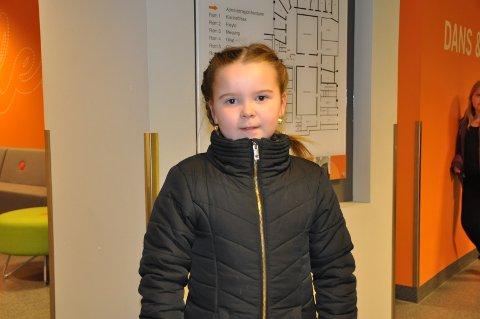 GLEDET SEG: Mathea Solberg Oustad (7) fra Askim var både spent og gledet seg til audition.