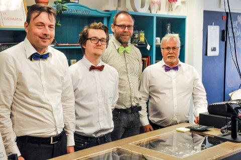 Magne Alvim (t.v) har vært i Delta-systemet i ett år, Simen Heimark har ett år, Kenneth Johansen seks månder og Vidar Iversen har 25 år i systemet.