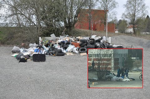 ROT: Det er ikke bra at barn leker på denne plassen, mener Høyre-politiker Anka