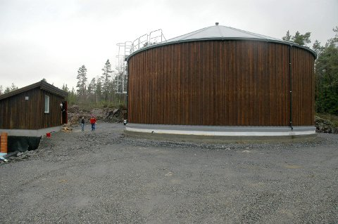 Vanntårnet på Revhaugåsen ble bygd for å sikre Nortura Hærland tilstrekkelig med vann.