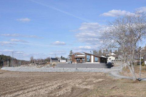Det nye boligfeltet i Brekkelia begynner nå å ta form.