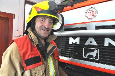 BLE PENSJONIST: Tidligere varabrannsjef Magne Kvande har 41 år i jobb for Skiptvet kommune.