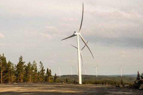 VINDKRAFT: Alle vindturbinene på Joarknatten og Høgås er i drift.