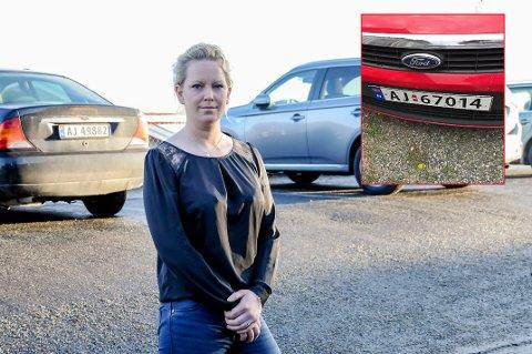 Bilen var til utlån hos Ida Helene Lier Pettersen da den ble stjålet.