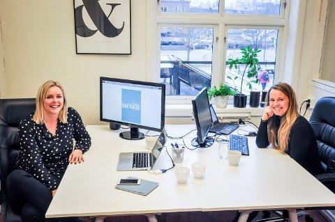 Line Møllhausen (t.v) og Anne Mina Skjønberg har siden oppstarten i 2013, drevet mediebyrået Navigatio.