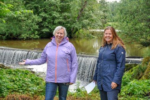 Wenche Myhrvold Olsen fra Indre Østfold kommune og Maria Bislingen fra Vannområde Glomma Sør lurer har ikke klart å finne ut hvorfor det er så mye fosfor i vannet.
