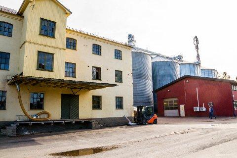 Østmøllene ønsker å rive den gamle møllebygningen i tre etasjer og søkte om dispensasjon til å sette opp et nytt produksjonsbygg på nesten 24 meter. ARKIV