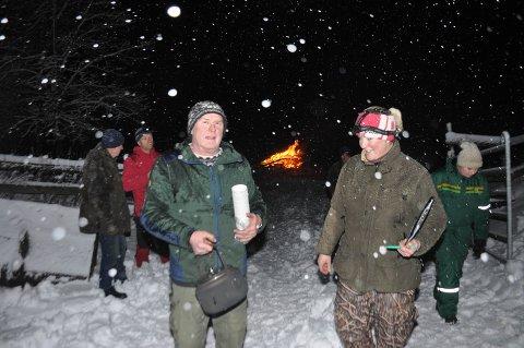 Kristian Solberg og Mona Madland, leder og styremedlem i Skitpvet Bondelag ønsket velkommen til arrangementet.