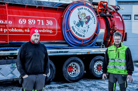 Fornøyde: Bjørn-Arne Paulsbo og Runar Kopperud er glade for at firmaet vant anbudskonkurransen i Indre Østfold kommune.