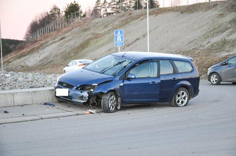 Uhellet skjedde på Riksevei 22, ved avkjøringen til E18.