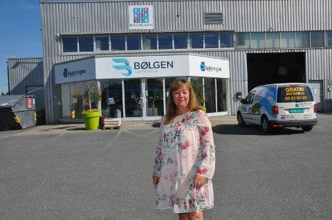Tirsdag hadde Unni Sletten sin første arbeidsdag som daglig leder i Bølgen Flis og VVS