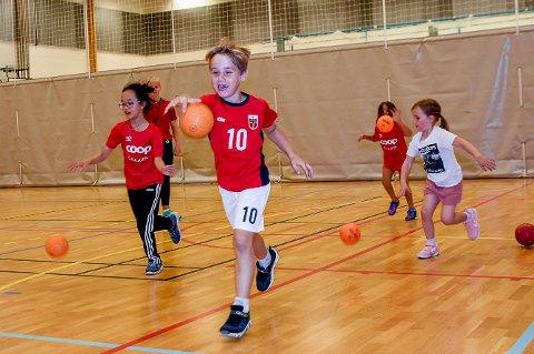 MINIHÅNDBALLEN: Minihåndballen er i gang igjen i Askim IF. På onsdag kom det rundt 25 barn til Askim ungdomsskole. Det er en økning fra forrige onsdag, men langt unna tidligere år.