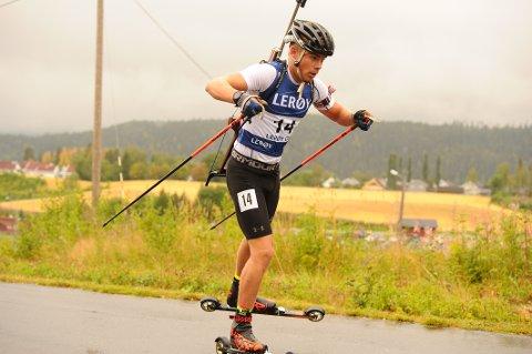 SEIER: Albert Riseth imponerte under helgas norgescuprenn i rulleskiskyting. Han satte samtlige på plass i søndagens renn.