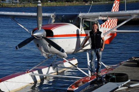 UTSLEPPSFRITT: – Me skal flyga utsleppsfritt i Fjord-Noreg, seier dagleg leiar Daniel Boden i Scandinavian Skies.