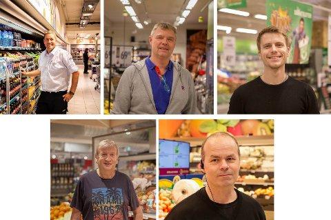 Fra venstre: Eirik Wiik Bergøy (Coop Mega), Harald Eckhoff (Rema 1000), Jon Eirik Finbak (Kiwi), Oddvar Hanasand (Helgø Meny), Ronny Ervik (Coop Extra).
