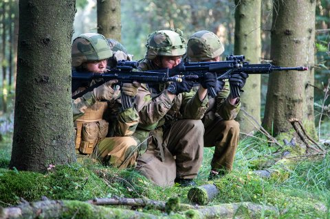 Denne uken øver 2400 HV-soldater i Rogaland, deriblant i Sola.