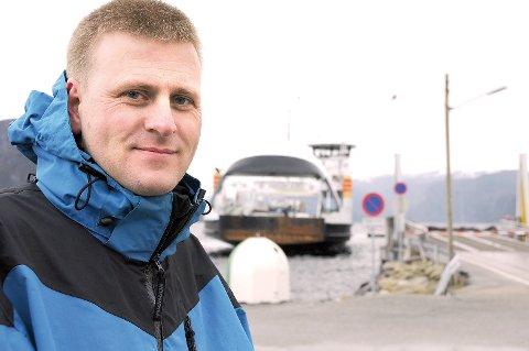 Ordførar Ole Tom Guse har sendt brev til fylkeskommunen for å avklara om det kan vera aktuelt med prøveferje på Høgsfjorden etter at Ryfast er ferdig. (Arkivfoto)