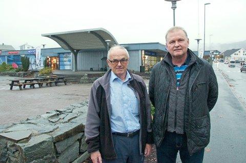 – Nå har vi kommet til tidspunktet for å realisere planene vi har jobbet med i lang tid, forteller Børge Oanes (t.v.) og Tore Bakken  i Innovasjon Jørpeland AS.