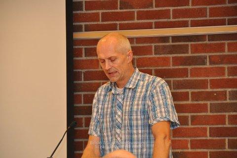Sven G. Westersjø (Ap) la fram Ombo-forslaget som fekk klart fleirtal i kommunestyret. (Arkivfoto)