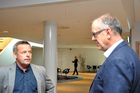«Alle» trudde at Ombo sin lagnad var avgjort, men nå er både Henrik Halleland (til venstre) og Bjørn Laugaland litt usikre.