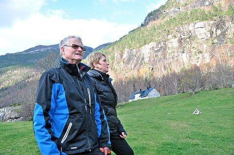 Løa hjå Monica og Njål Egeland i Håheller skal gjenreisast i mai. Ryfylkefondet støttar prosjektet. (Arkivbilde)
