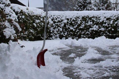 SNØSJOKK: Selv om vi er godt ut i mai, kan det komme snø. Kanskje vil den også legge seg. Våren har vært ganske kald, og 3. april i år så det slik ut på Jørpeland.