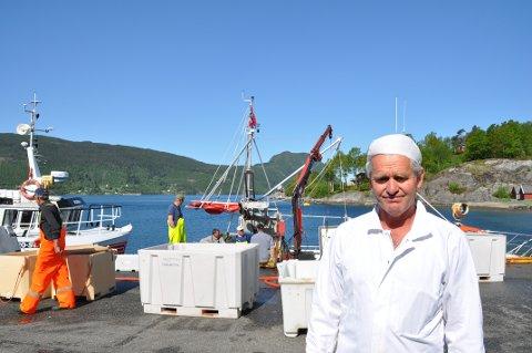 AVVIKLAR: Jostein Hjorteland har avvikla drifta av Skiftun Fiskemottak. Han meiner verksemda blei for lita og for sårbar.