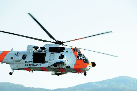 RYKKET UT: Et Sea King-helikopter satte for sikkerhets skyld kursen mot Tau. Arkivfoto