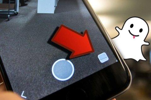 Denne knappen lar deg sende dine lagrede bilder.