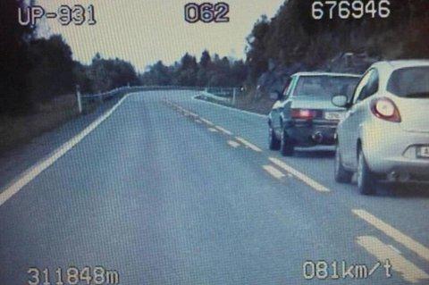 Holder du ikke riktig avstand til bilen foran, altså minst tre sekunder, kan det bli både bot, prikker og i verste fall beslag av sertifikatet. (Foto: UP/broom.no/ANB)