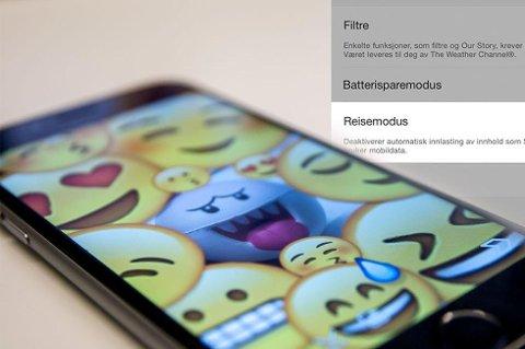Snapchat har kommet med nye oppdateringer. (Foto: Niklas Plikk, Teknofil.no/ANB)