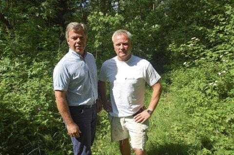Går VIDERE: Grunneierne Trond Sem og Per Lauritsen er skuffet over at et flertall av de folkevalgte sa ja til kommuneplanens arealdel, og dermed blir det nok ikke nye boliger. Men saken ruller videre.