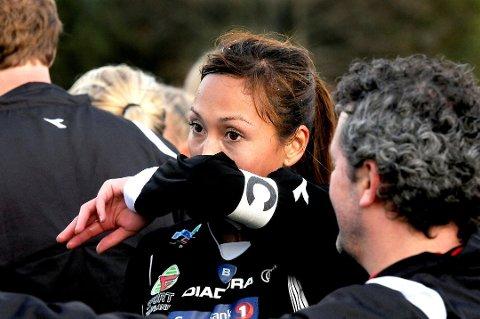 Kaptein Lina Lanner sikret ett poeng helt på tampen av kampen.