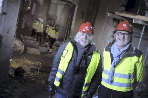 VERDENSBERØMT: Verdensarvkoordinator Øystein Haugan og ordfører Bjørn Sverre Birkeland håper tungtvannskjelleren blir en stor turistattraksjon på Rjukan.