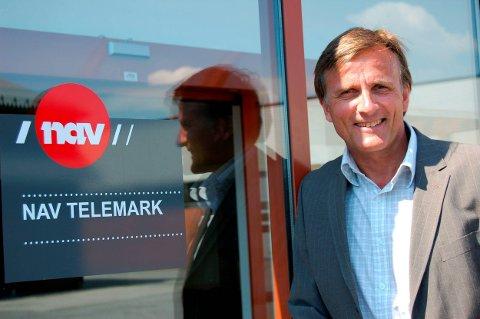 GODE TALL: Direktør for NAV Telemark, Terje Tønnessen, er tilfreds med at ledighetstallene går ned i fylket.